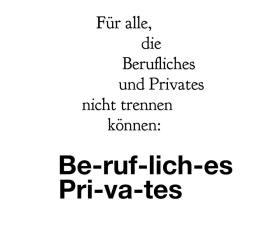 Berufliches und Privates trennen